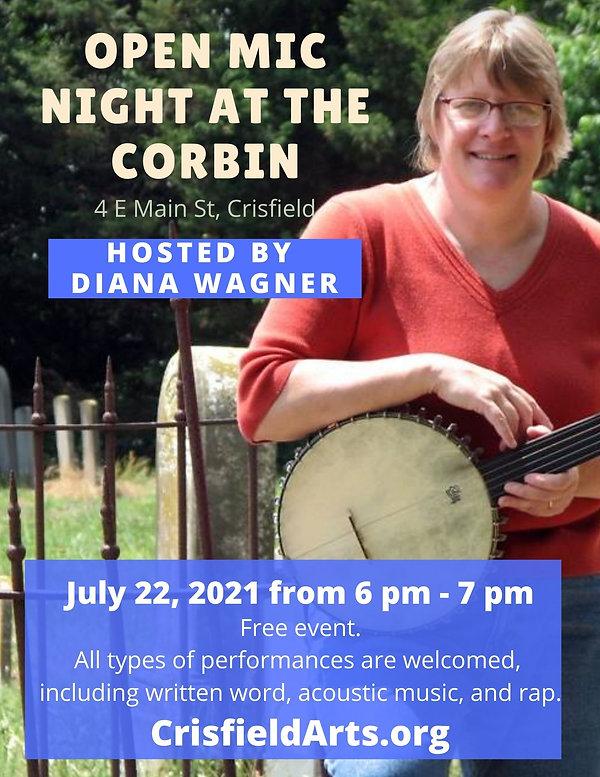 open mic night at the corbin Diana Wagne
