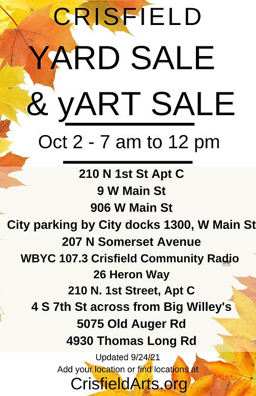 Oct 2 2021  Crisfield Yard Yart Sale locations.png