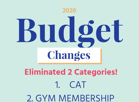 January 2020 Budget Changes