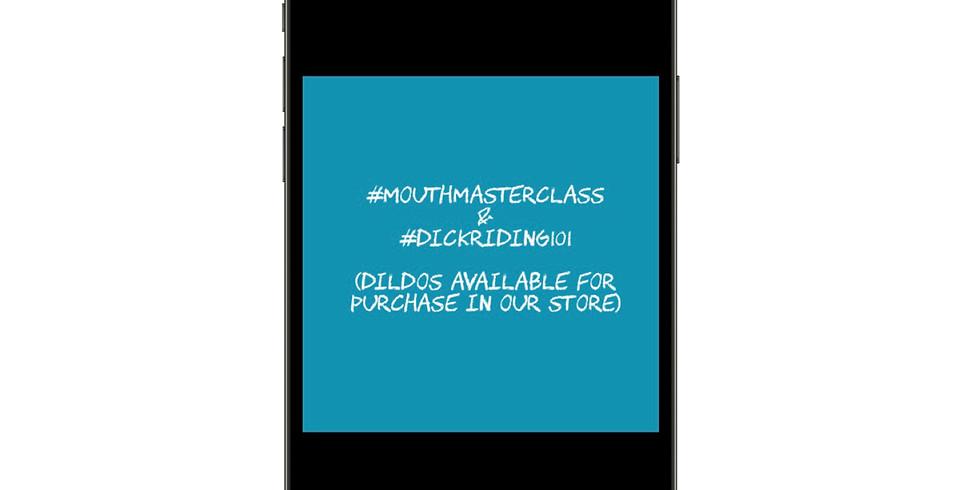 #MouthMasterclass  & #DickRiding101 02/05/21