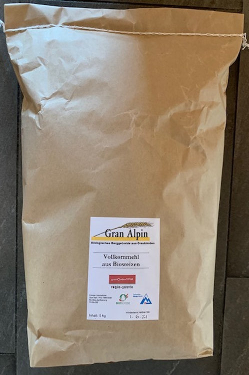 Bio-Weizen Vollkornmehl  5kg Sack