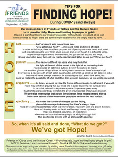 TIPS for Finding Hope During COVID-19, w