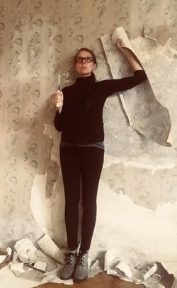 Vectomov peeling wallpaper