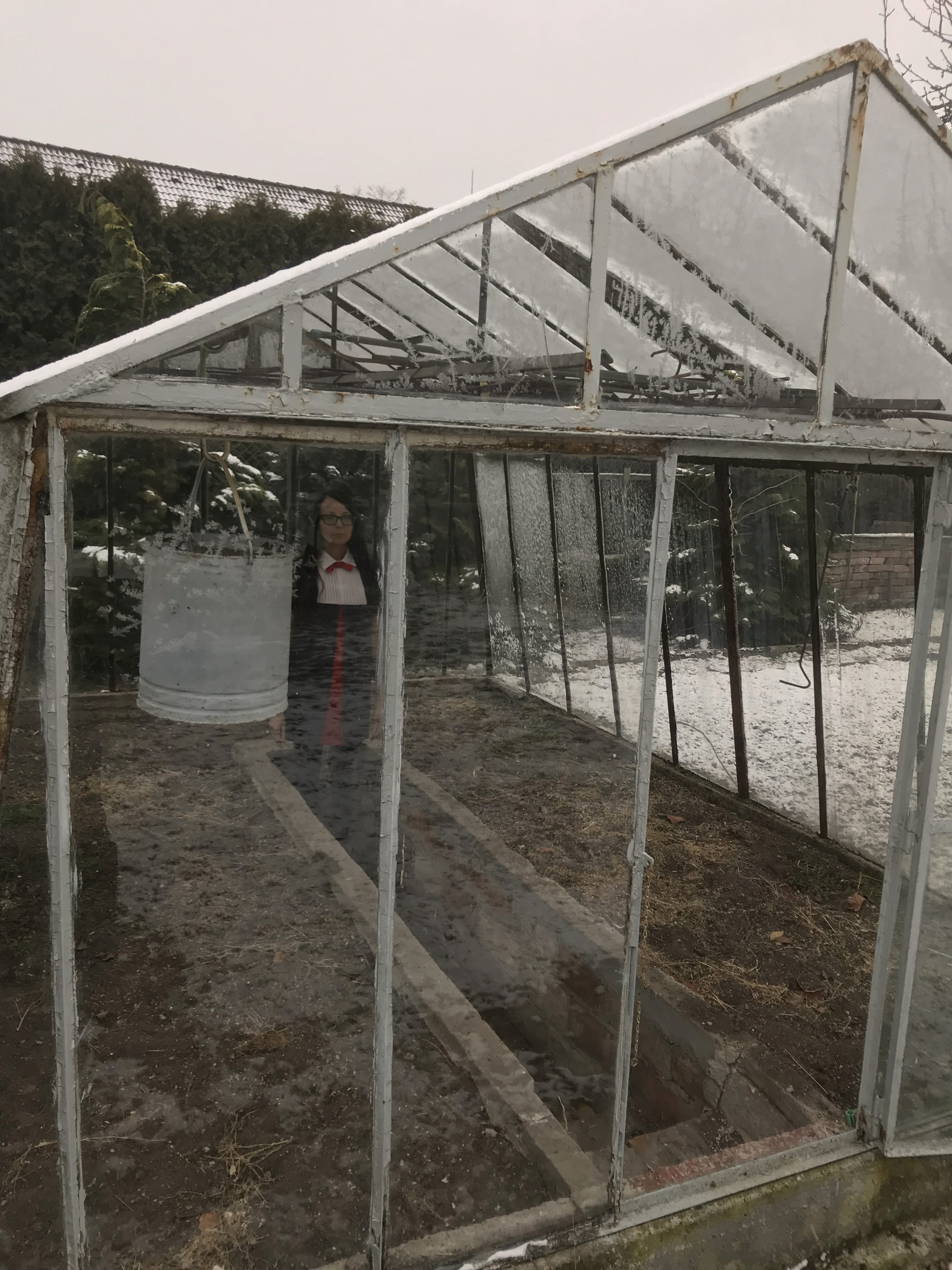 Vectomov inside a greenhouse