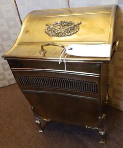 Brass coal cabinet