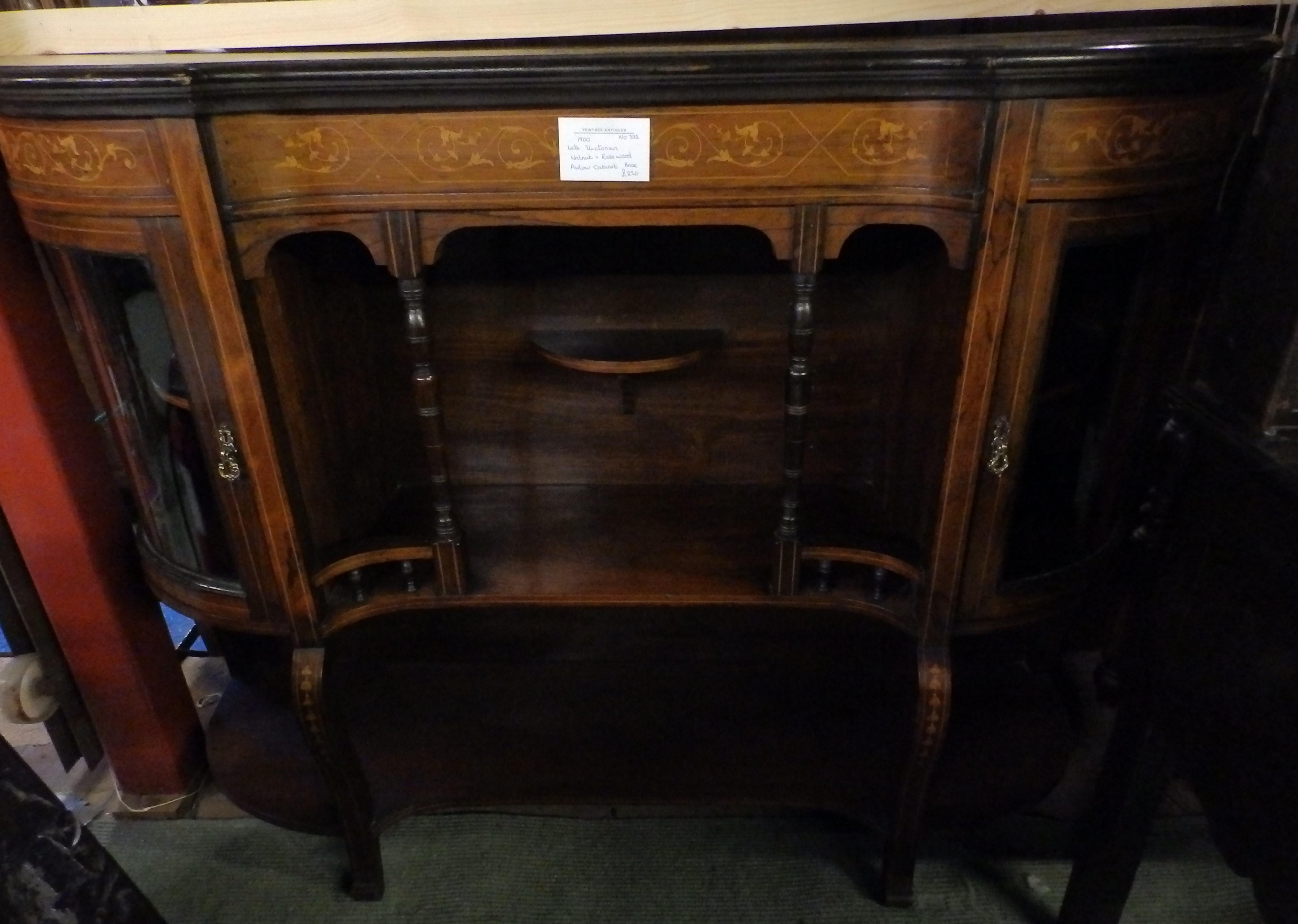 Edwardian parlour cabinet