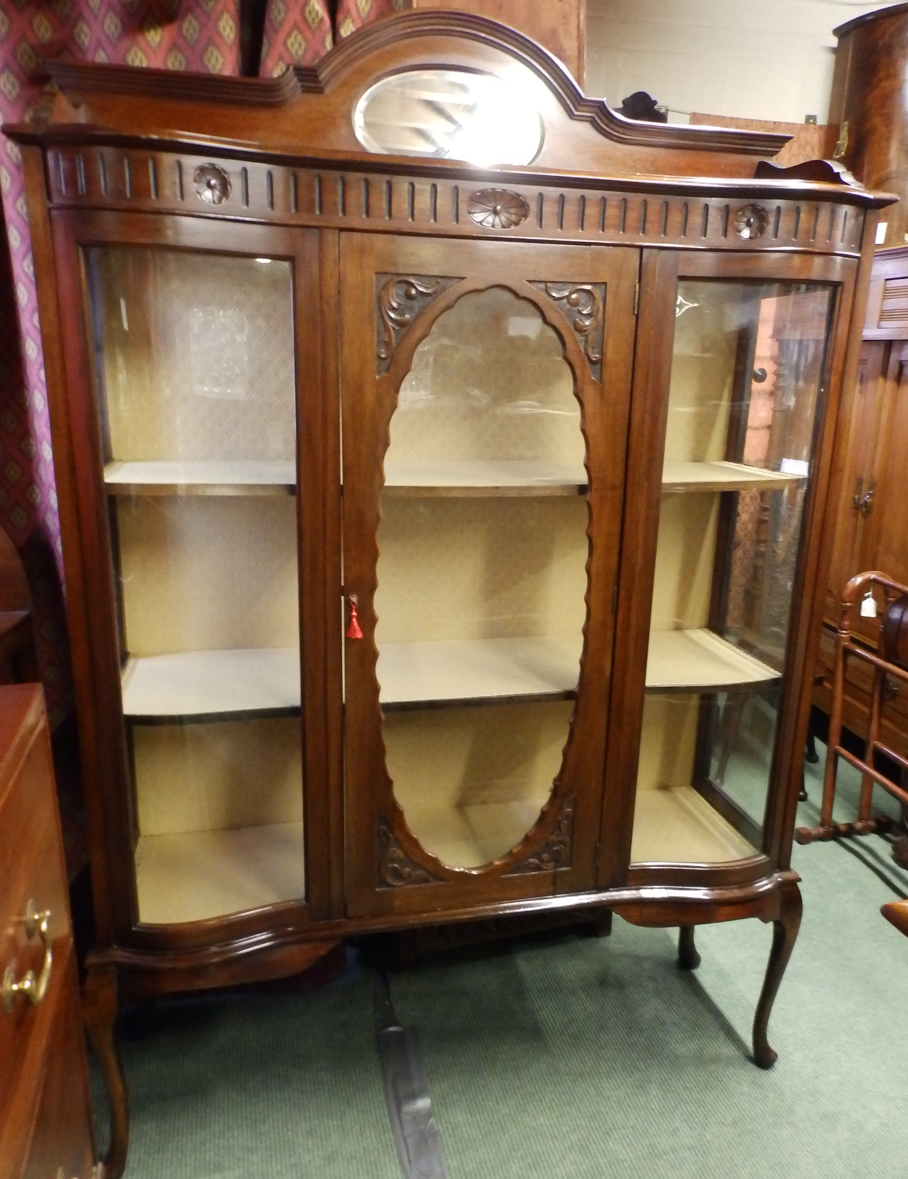 no227- Edwardian display cabinet