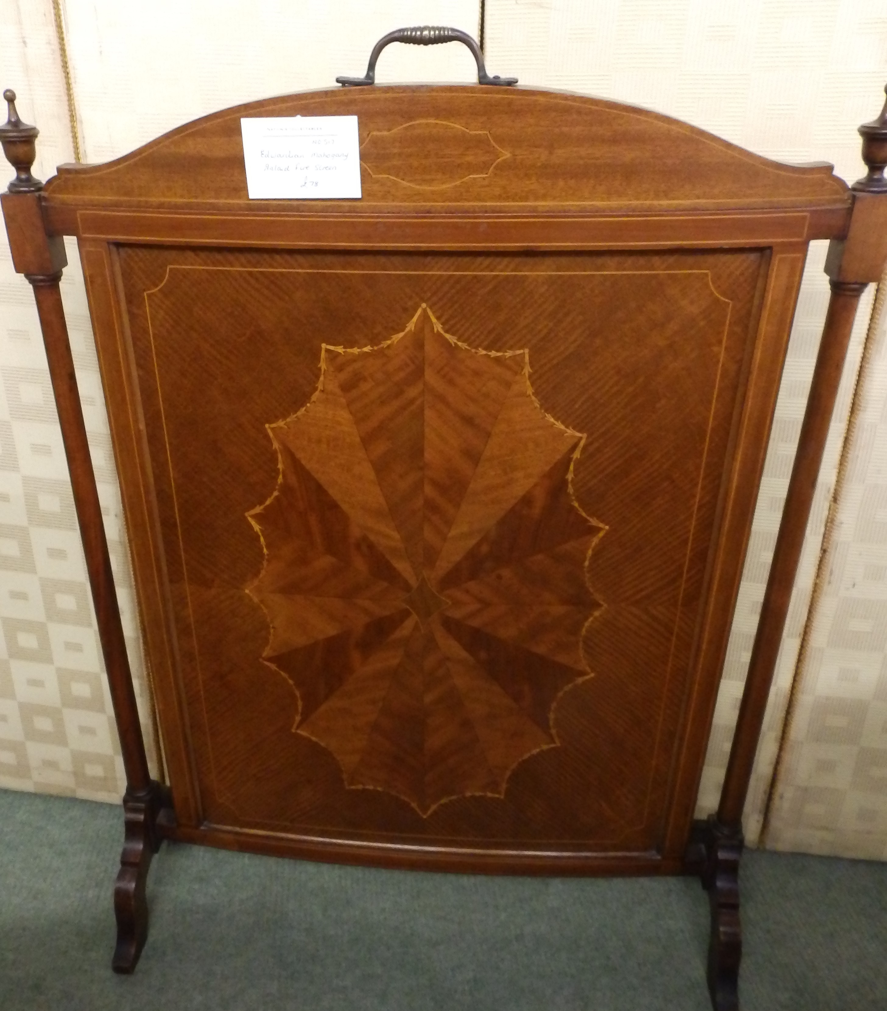Edwardian fire screen