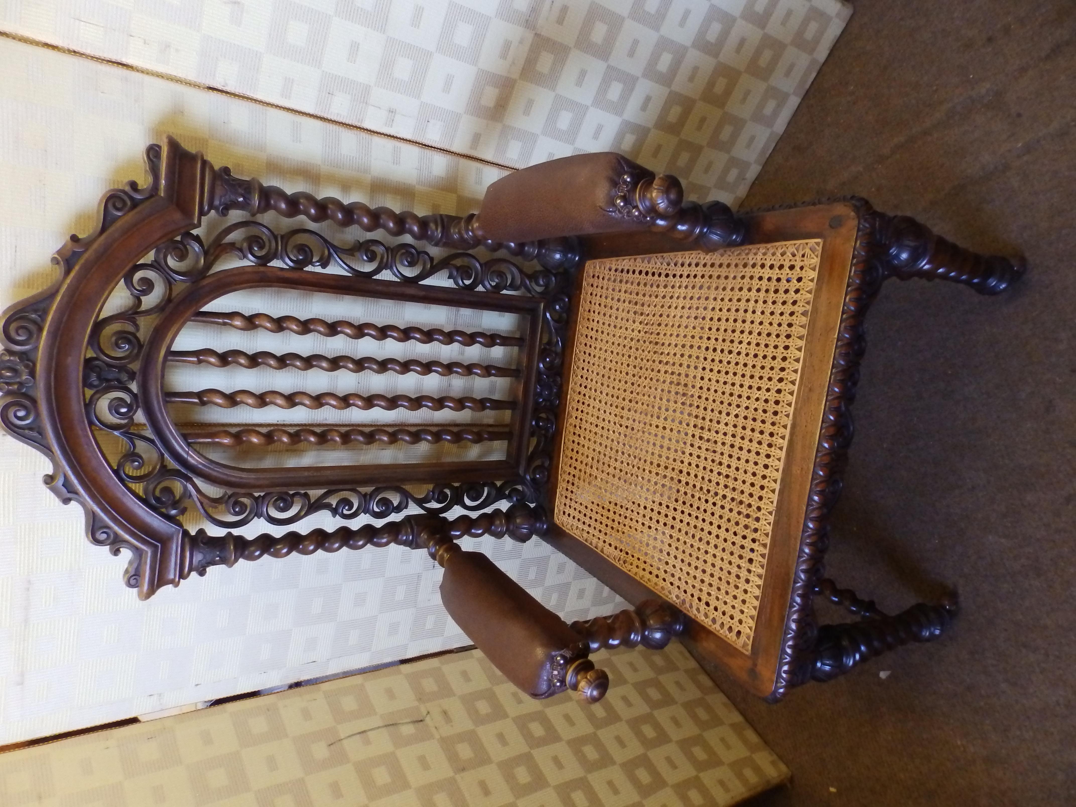oak arm-chair