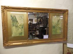 Victorian picture mirror