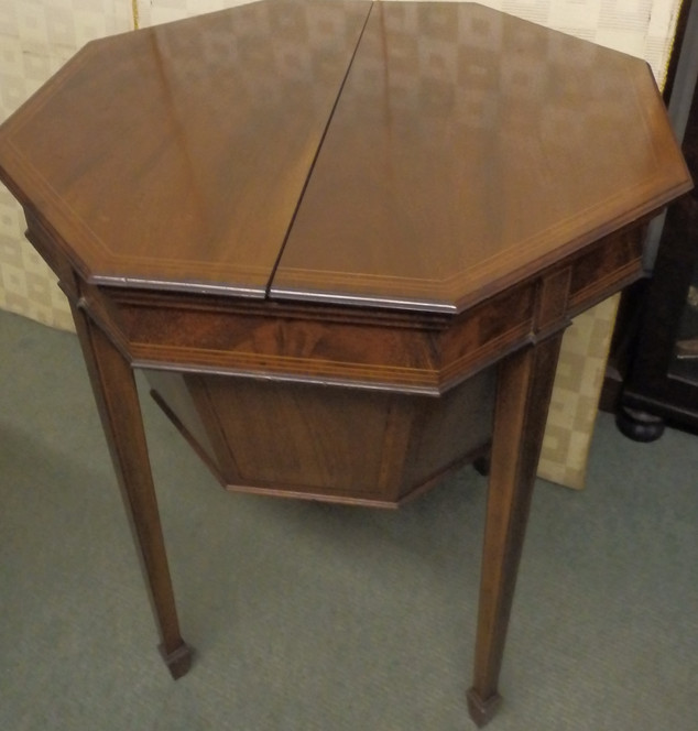 Edwardian sewing table