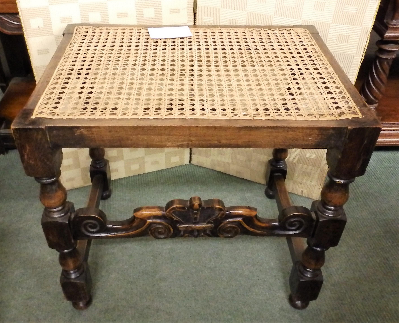 1930s oak stool