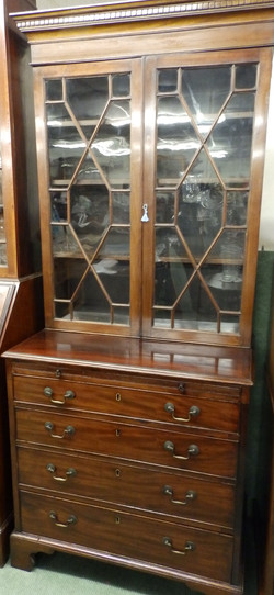 1900s bookcase on chest