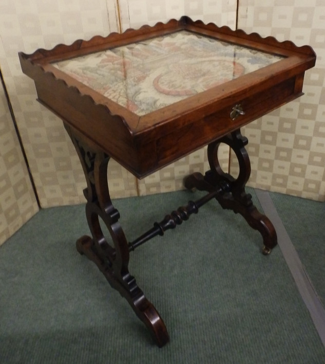 Victorian sewing table