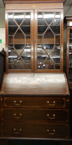 Edwardian bureau/bookcase