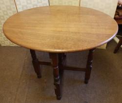 oak folding table