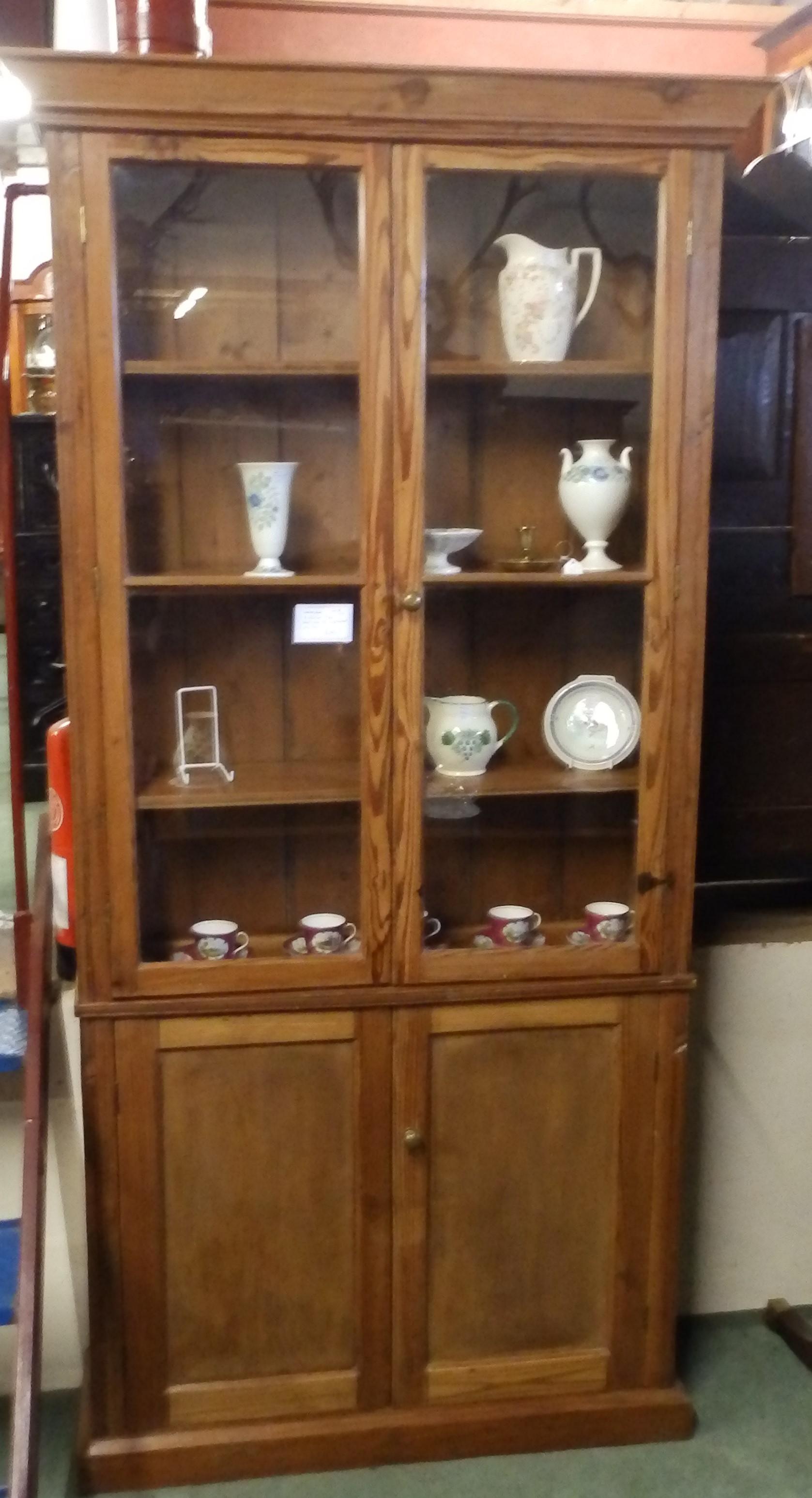 no-462-Victorian pine bookcase