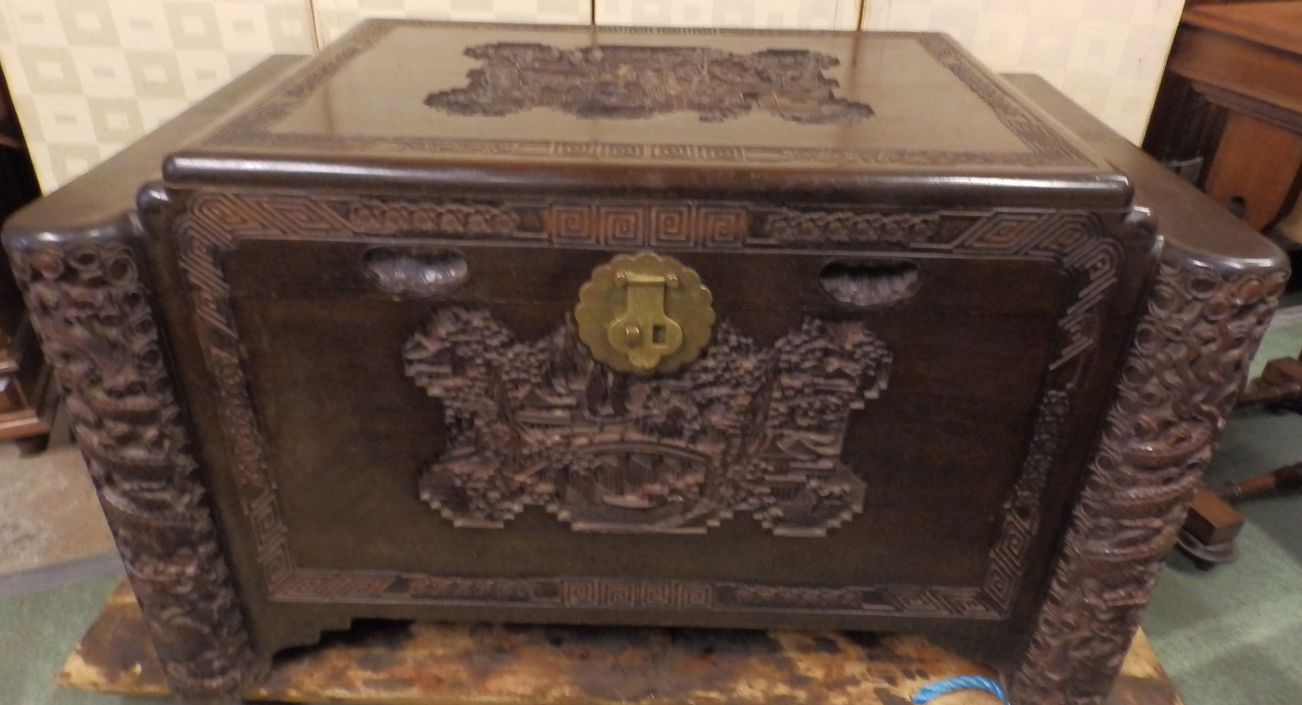 Camphor-wood chest
