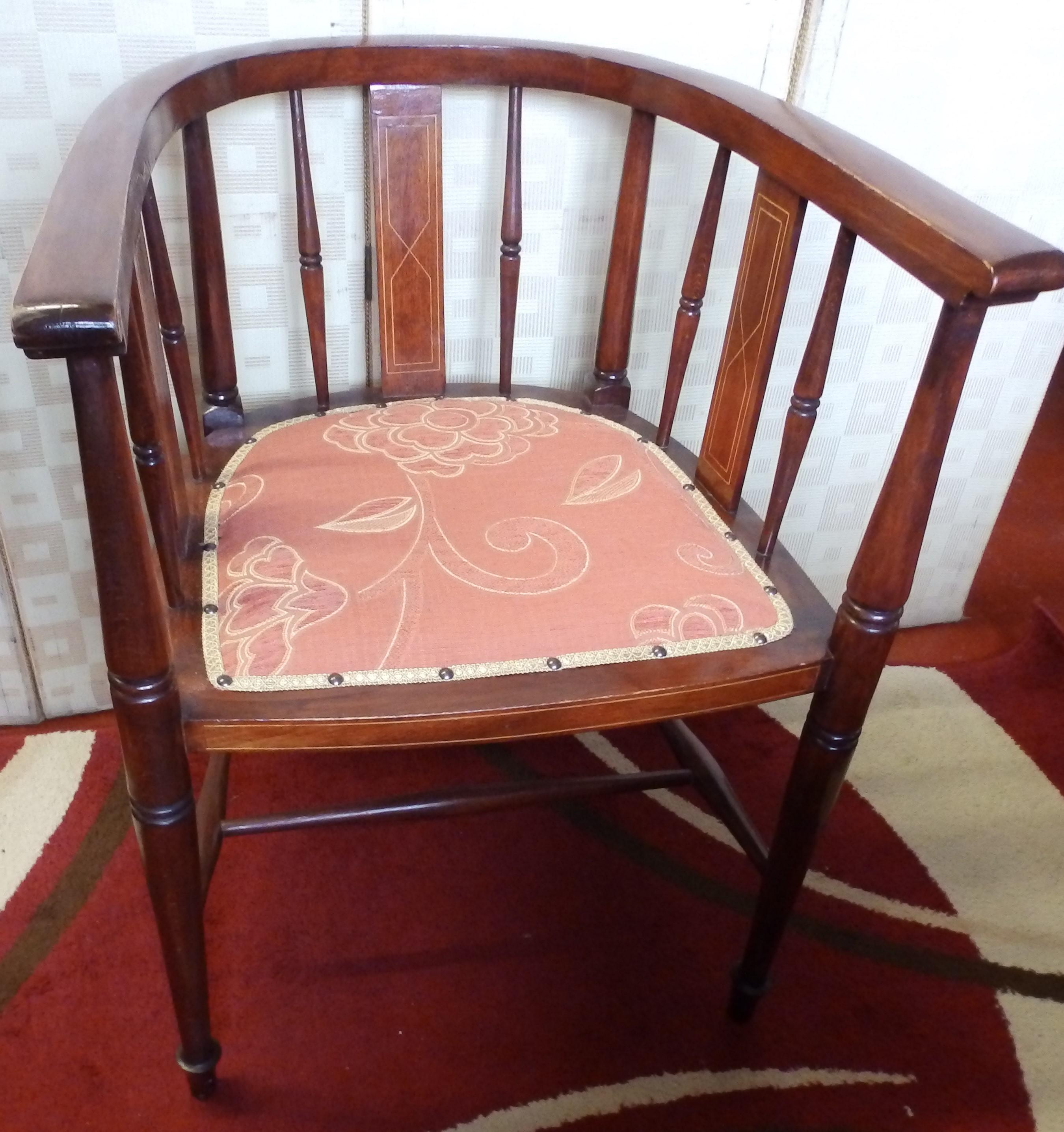 Edwardian tub chair