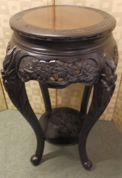 carved plant-stand
