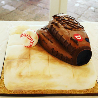 Mitt and Ball groom's cake