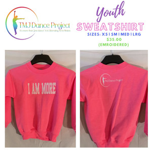 Youth Youth Sweatshirt | Pink (Embroidered)