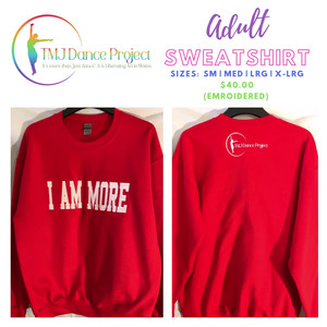 Adult Sweatshirt | Red (Embroidered)