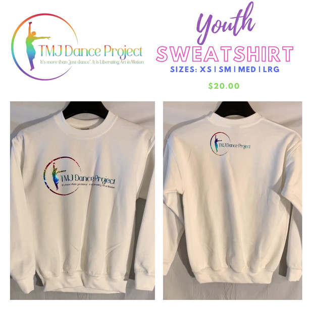 Youth Sweatshirt  | White (Mulit Logo)