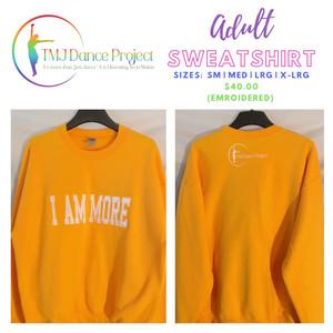 Adult Sweatshirt | Gold (Embroidered)