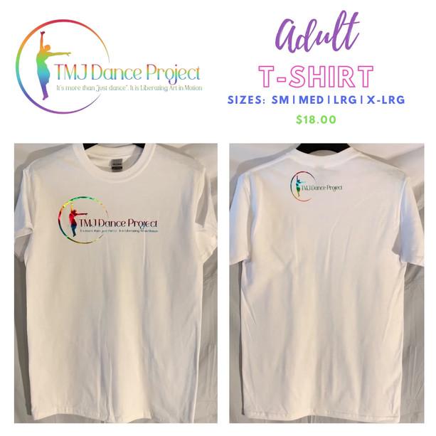 Adult T-Shirt | White                 (Multi - Logo)