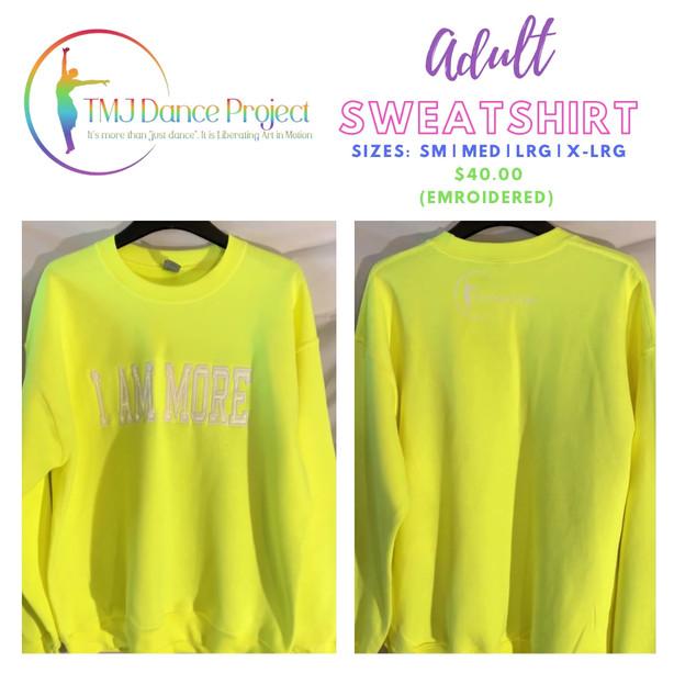 Adult Sweatshirt | Neon (Embroidered)