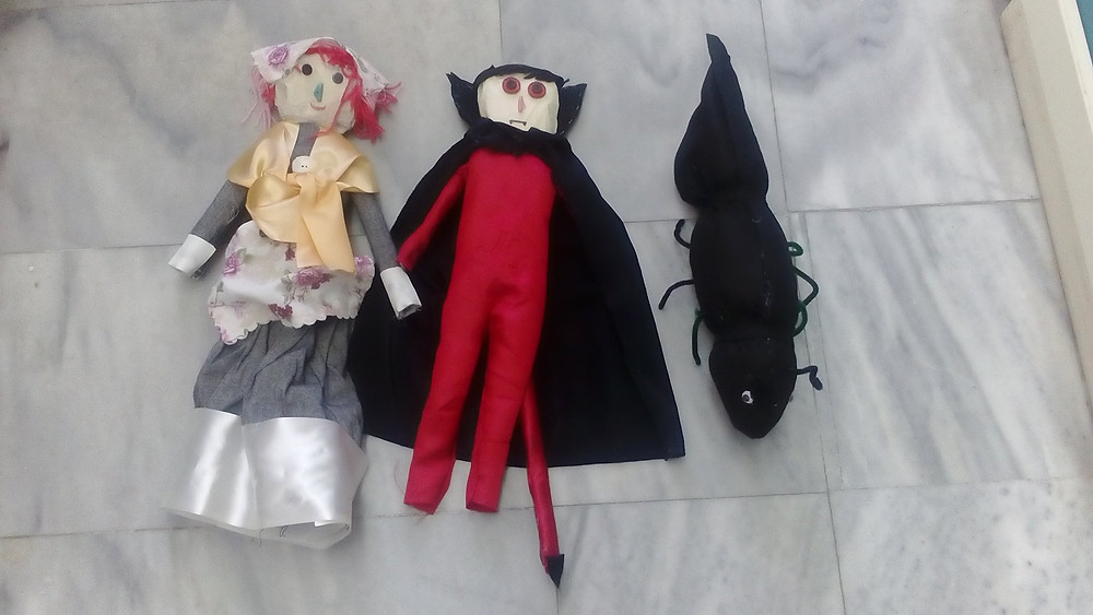 """κούκλες Σλοβένικου παραμυθιού """"The imp and the ant"""""""
