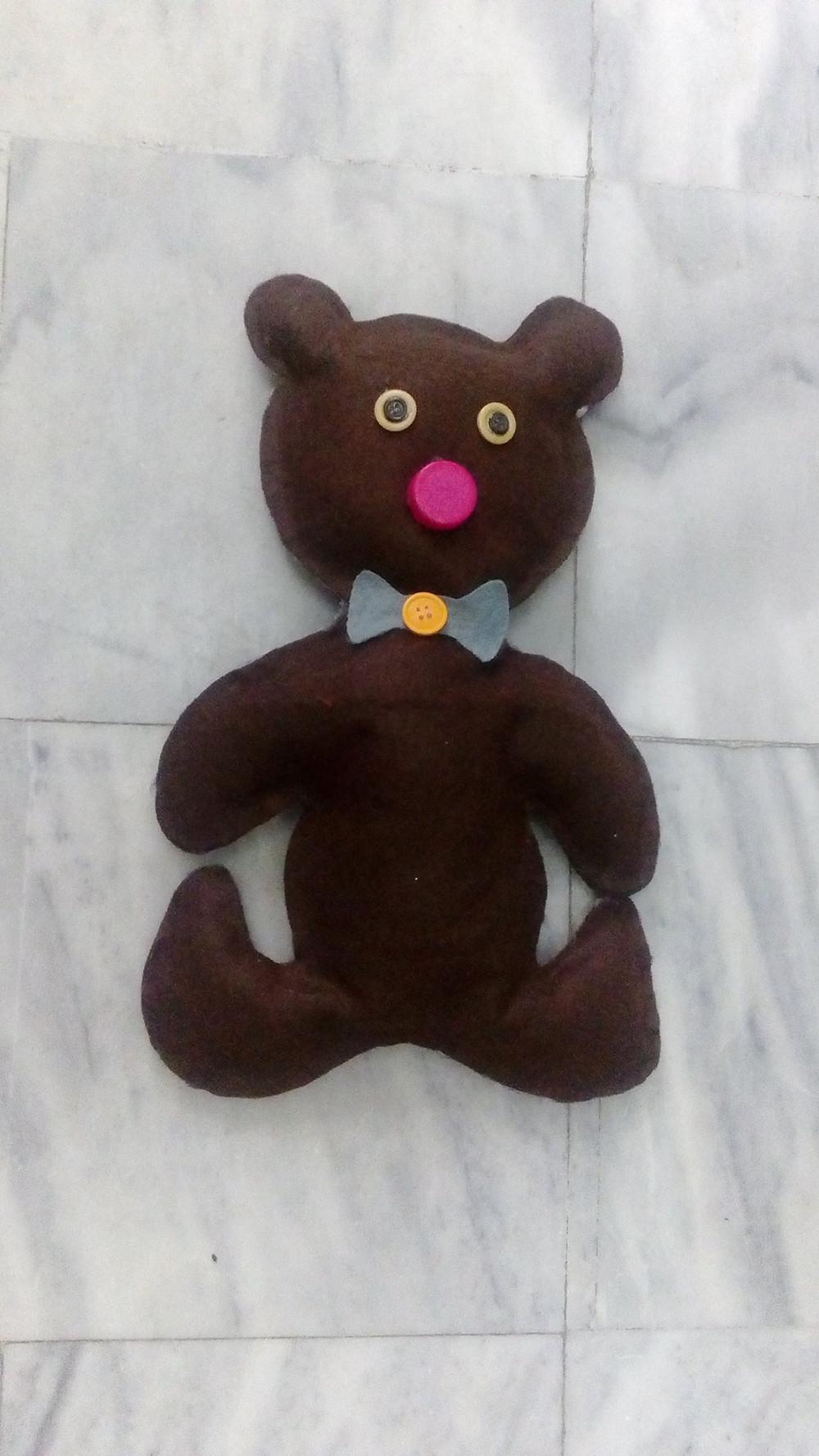 """κούκλα Φιλανδικού παραμυθιού """"How the bear lost its tail"""""""