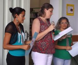 Profª Franciele, Pâmela e Selma