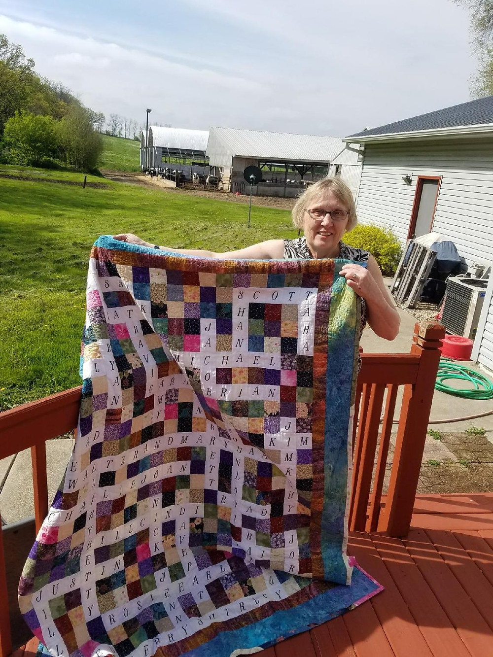 Wedding and family tree quilts