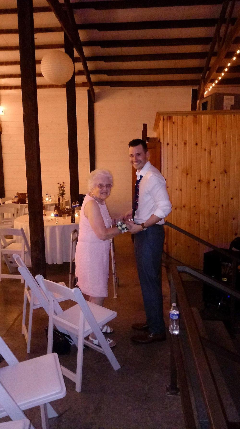 Kaleb with Grandma