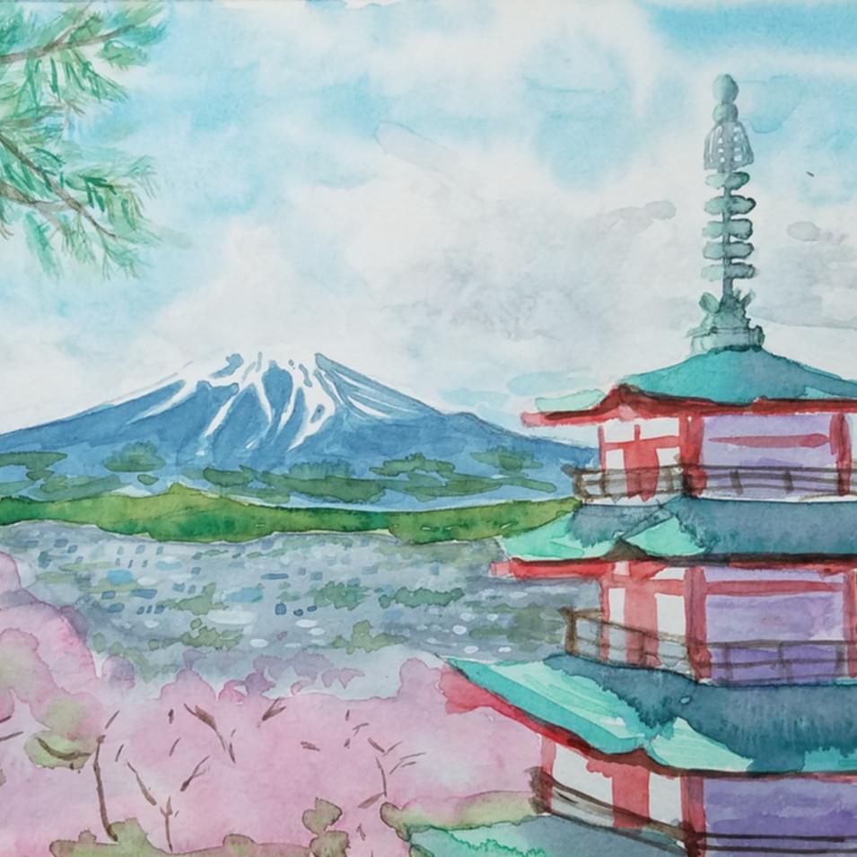 Fuji in spring, Japan