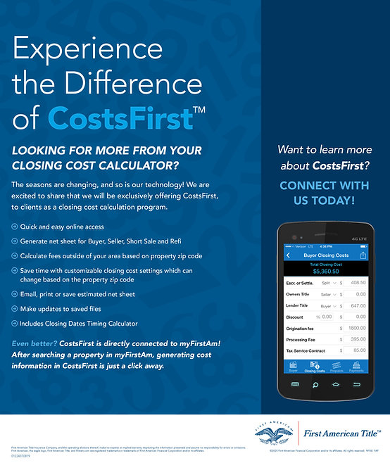 Experience the Difference of CostsFirst