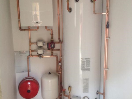 Worcester-Bosch unvented hot water heating system