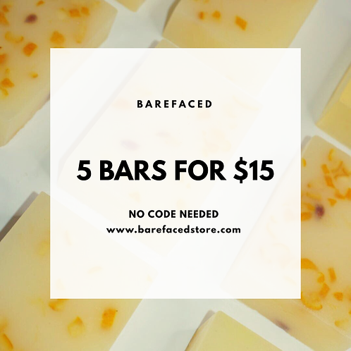 5 Bars For $15