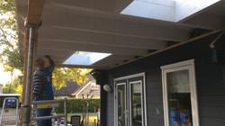 Lichtkoepels veranda