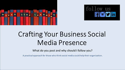 Crafting Your Business Social Media Pres