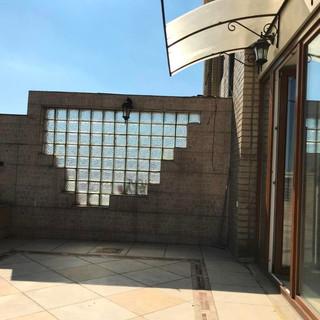 Вихід на терасу обладнаний прозорим дашком
