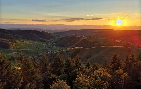 Sonnenuntergang, Eichelspitzturm 2020-07