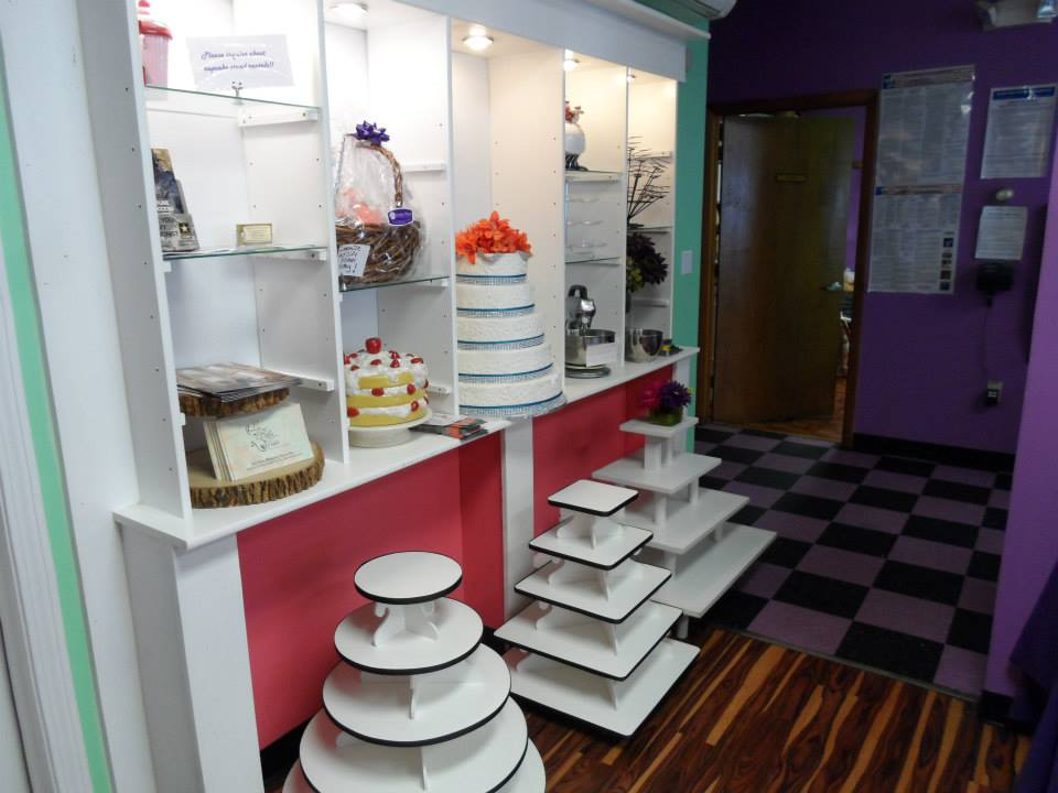 A large Variety of Cupcake Stands
