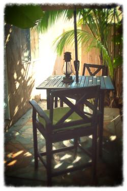 Our patio in Ocean Beach