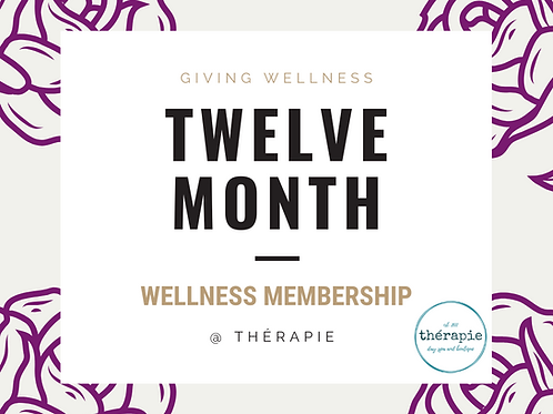 Twelve Month Wellness Membership