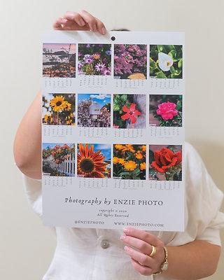 2021 Floral Wall Calendar