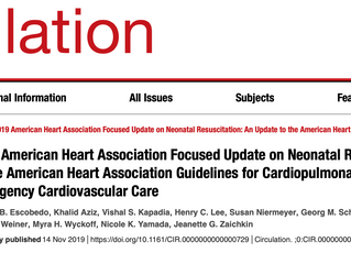 CSAR's latest publication: 2019 American Heart Association Focused Update on Neonatal Resuscitat
