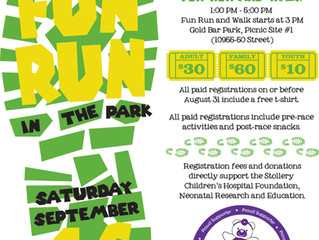Join us for the 5th Annual NICU Fun Run in the Park